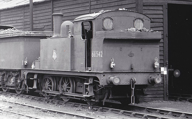 BR - 68542 - Holden GER Class J69 0-6-0T - built 05/1892 by Stratford Works as GER No.366 - 1924 to LNER No.7366, 11/46 to LNER No.8542, 06/49 to BR No.68542 - 09/62 withdrawn from 30A Stratford - seen here at South Lynn.