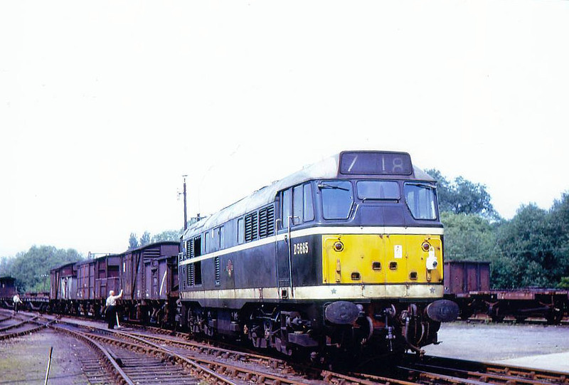 BR - Class 31 - D5665 - Brush Type 2 A1A-A1A DE - built 11/60 by Brush Traction - 1973 to 31 238 - withdrawn 06/99 - seen here at Norwich City, 06/65.