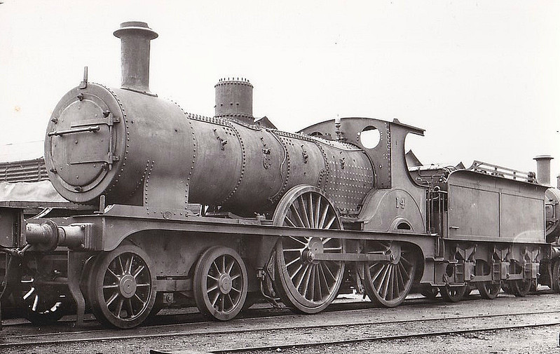 M&GN - 14 - Johnson Class C LNER Class D52 4-4-0 - built 1894 by Sharp Stewart & Co., Works No.4011, as M&GN No.14 - 1928 rebuilt - LNER No.014 not applied - 02/37 withdrawn from Melton Constable - seen here at Stratford Works.