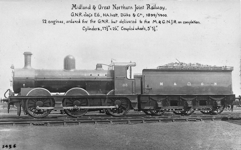 M&GN - 83 - Ivatt M&GN Class Da 0-6-0 - built 1900 by Dubs & Co., Works No.3936 - 1920 rebuilt - 1936 to LNER Class J3 No.083, 06/46 to LNER No.4158 - BR No.64158 not applied - 07/51 withdrawn from 35B Grantham.