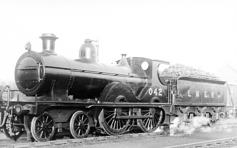 LNER - 042 - Johnson Class C LNER Class D52 4-4-0 - built 1894 by Sharp Stewart & Co., Works No.3992, as M&GN No.42 - 1910, 1927 and 1931 rebuilt - 09/37 to LNER No.042 - 1940 withdrawn - seen here at Spalding.