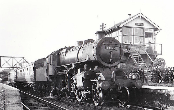 BR - 43156 - BR Ivatt Class 4MT 2-6-0 - built 01/52 by Doncaster Works - withdrawn 01/65 from 40EColwick - M&GN loco from new to 03/59 - seen here at Drayton.