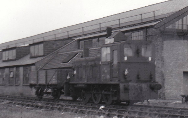 BR - Class 03 0-6-0DM shunter at Melton Constable. Very poor quality picture but it looks like D2136 or D2186, although neither loco was never based in the this area.