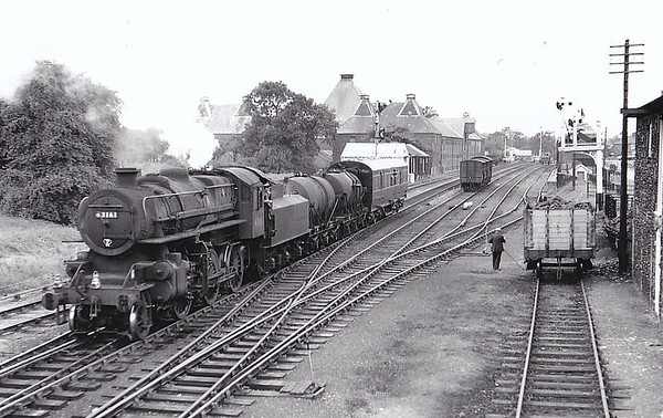 BR - 43161 - BR Ivatt Class 4MT 2-6-0 - built 09/52 by Doncaster Works - withdrawn 06/65 from 41E Barrow Hill.
