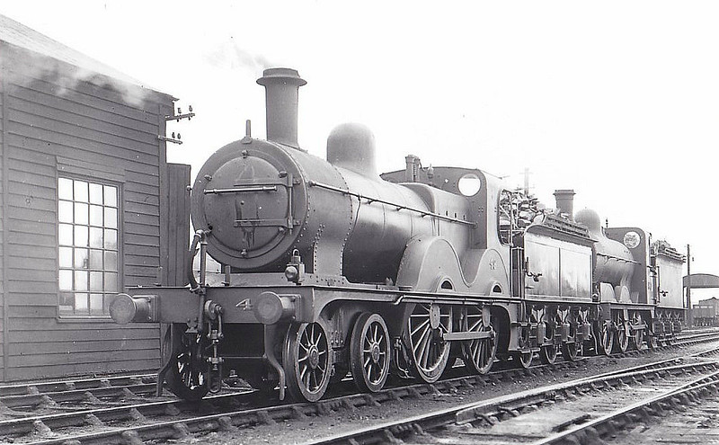 M&GN - 49 - Johnson M&GN Class C LNER Class D53 4-4-0 - built 1896 by Sharp Stewart & Co., Works No.3999 - 02/31 rebuilt with  Belpaire boiler to Class D53 - 10/37 to LNER No.049 - 09/41 withdrawn from New England MPD - seen here at South Lynn, 07/36, with Class Da No.80.