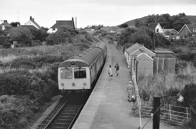 BR - Class 105 DMU - seen here at West Runton, the only intermediate station between Cromer and Sheringham. This is the last section of the M&GN to see service. As can be seen, facilities are typically basic.