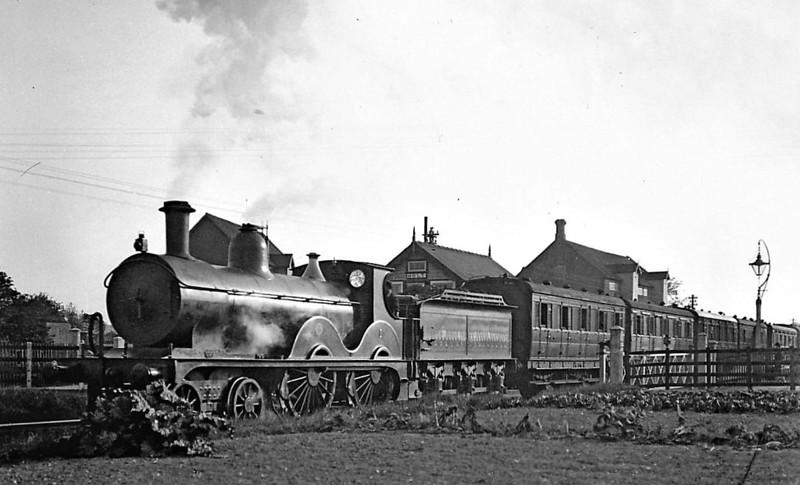 M&GN -  1 - Johnson Class C LNER Class D52 4-4-0 - built 1894 by Sharp Stewart & Co., Works No.4001, as M&GN No.1 - rebuilt in 1910, 1924 and 1931 - 10/36 to LNER No.01 - 11/37 withdrawn from Yarmouth Beach - seen here at Holt.