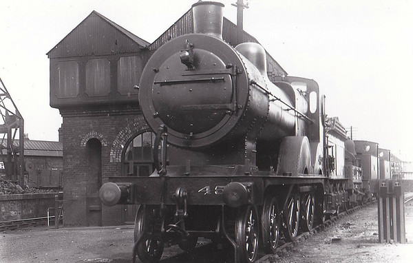 M&GN - 45 - Johnson M&GN Class C LNER Class D54 4-4-0 - built 1894 by Sharp Stewart & Co., Works No.3995 - 1909 rebuilt with Belpaire boiler, 1926 rebuilt to Class D54 - LNER No.045 not applied - 11/36 withdrawn from S0uth Lynn - seen here at Melton Constable in May 1936.