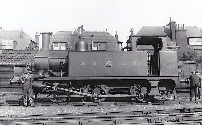 M&GN - 97 - Marriott LNER Class J93 0-6-0T - built 12/02 by Melton Constable Works as M&GN No.97 - 1936 to LNER No.097 - 03/43 withdrawn from 32G Melton Constable - seen here at Yarmouth Beach.