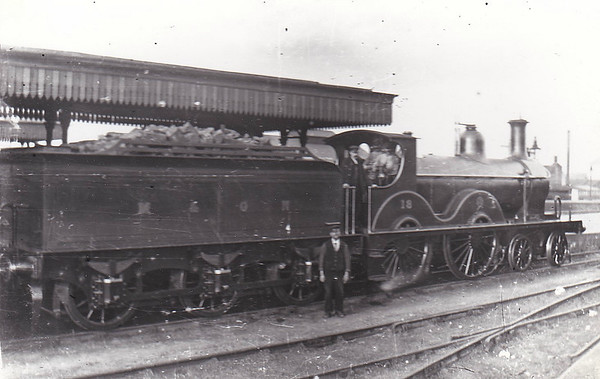 M&GN - 13 - Johnson Class C LNER Class D52 4-4-0 - built 1894 by Sharp Stewart & Co., Works No.4010, as M&GN No.13 - 1908, 1925 rebuilt - 05/37 to LNER No.013 - 09/41 withdrawn from New England.