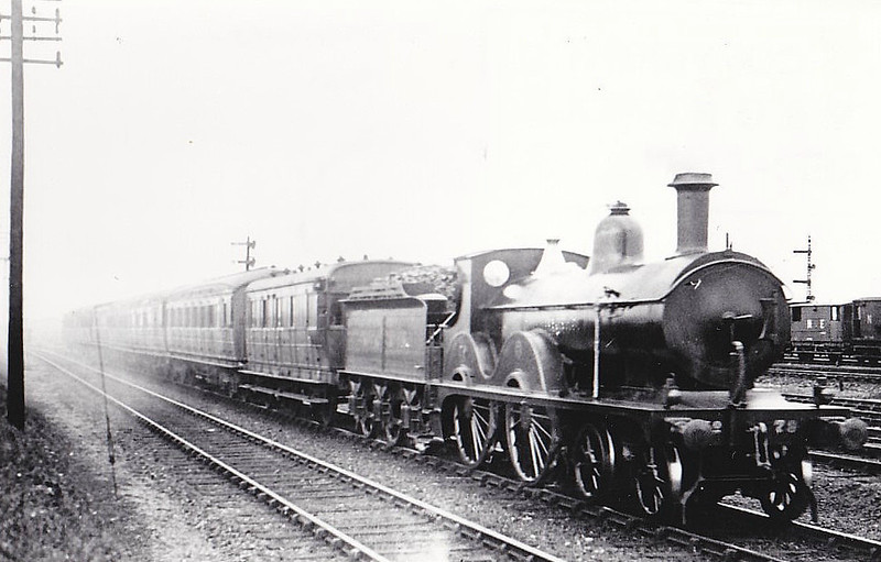 M&GN - 79 - Johnson M&GN Class C LNER Class D52 4-4-0 - built 1899 by Beyer Peacock Ltd., Works No.4071 - 1917 rebuilt - 11/36 to LNER No.079 - 02/37 withdrawn from South Lynn - seen here at Peterborough.