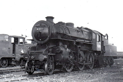 BR - 43111 - Ivatt LMS/BR Class 4MT 2-6-0 - built 07/51 by Doncaster Works - 06/65 withdrawn from 41E Barrow Hill - 31D South Lynn loco from new to March 1959 - seen here at South Lynn in July 1951 when new.