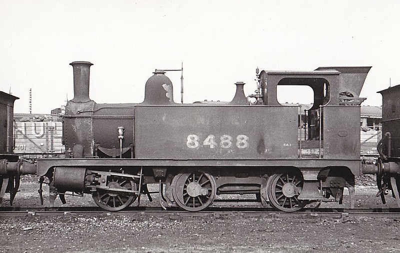 LNER - 8488 - Marriott LNER Class J93 0-6-0T - built 01./04 by Melton Constable Works as M&GN No.2A - 01/07 to M&GN No.94, 1936 to LNER No.094, 12/46 to LNER No.8488 - BR No.68488 not applied - 01/48 withdrawn from 31D South Lynn - seen here at Stratford Works, 02/48.