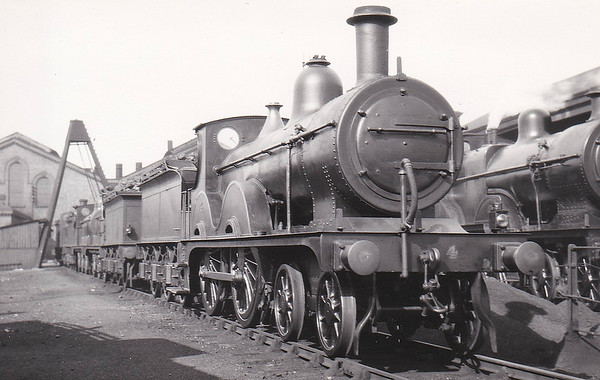 M&GN -  4 - Johnson Class C LNER Class D52 4-4-0 - built 1894 by Sharp Stewart & Co., Works No.4004, as M&GN No.4 - rebuilt 1911, 1923 and 1933 - LNER No.04 not applied - 02/38 withdrawn from Melton Constable - seen here at New England in 1932.