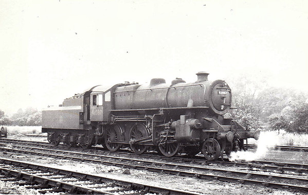 BR - 43087 - BR Ivatt Class 4MT 2-6-0 - built 11/50 by Darlington Works - 12/64 withdrawn from 34E New England - seen here at Spalding, 05/51.
