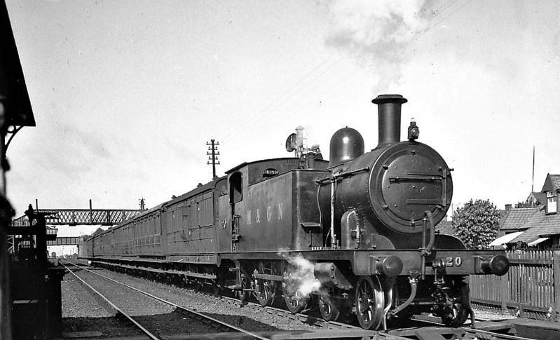 M&GN - 20 - Marriott M&GN Class A LNER Class C17 4-4-2T - built 1909 by Melton Constable Works as M&GN No.20 - 1933 tank tops cut down to improve visibility - 1936 to LNER No.020 - 04/42 withdrawn from Melton Constable - seen here at Sheringham.
