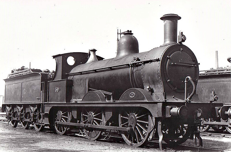 M&GN - 59 - Johnson M&GN Class D 2F 0-6-0 - built 08/1896 by Neilson & Co., Works No.5033 - 1920 rebuilt - 08/37 to LNER Class J40 No.059 - 06/44 withdrawn