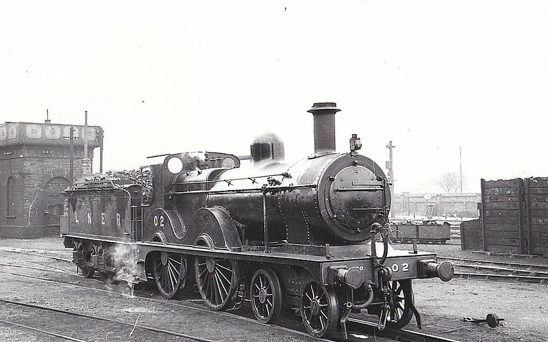 LNER - 0 2 - Johnson Class C LNER Class D53 4-4-0 - built 1894 by Sharp Stewart & Co., Works No.4002, as M&GN No.2 - 1910 rebuilt, 1931 rebuilt to Class D53 with Belpaire boiler - 01/37 to LNER No.02 - 05/43 withdrawn from Yarmouth Beach, where seen 03/39.