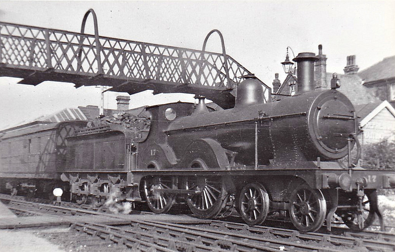 M&GN - 17 - Johnson Class C LNER Class D52 4-4-0 - built 1894 by Sharp Stewart & Co., Works No.4012, as M&GN No.17 - 1913, 1926 and 1933 rebuilt - LNER No.017 not applied - 10/37 withdrawn from Melton Constable - seen here at Sheringham.