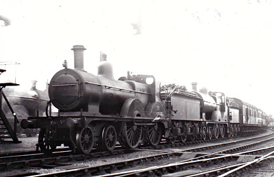 M&GN - 77 - Johnson M&GN Class C LNER Class D53 4-4-0 - built 1899 by Beyer Peacock Ltd., Works No.4069 - 1916 rebuilt, 12/30 rebuilt with Belpaire boiler to Class D53 - 10/37 to LNER No.077 - LNER No.2054 not applied - 01/45 withdrawn from Yarmouth Beach - seen here at Melton Constable piloting No.53, 05/36.