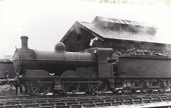 M&GN - 91 - Ivatt M&GN Class Da 0-6-0 - built 10/00 by Dubs & Co., Works No.3943 - 1926 rebuilt, 02/37 to LNER Class J4 No.091 - LNER No.4166 not applied - 07/46 withdrawn - seen here at Melton Constable.