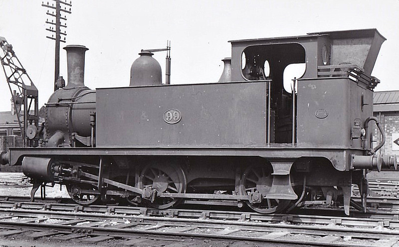 M&GN - 99 - Marriott LNER Class J93 0-6-0T - built 03/02 by Melton Constable Works as M&GN No.17A - 1907 to M&GN No.99, 03/37 to LNER No.099 - 07/45 withdrawn from Melton Constable.