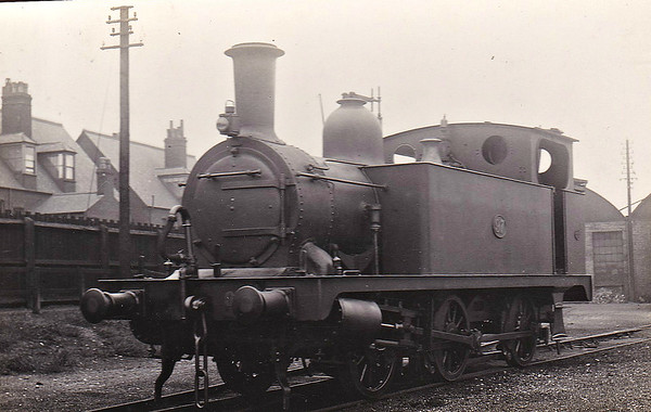 M&GN - 97 - Marriott LNER Class J93 0-6-0T - built 12/02 by Melton Constable Works as M&GN No.12A - 1907 to M&GN No.97, 1936 to LNER No.097 - 03/43 withdrawn from 32G Melton Constable - seen here at Yarmouth Beach in 1935 - note Deeley smokebox door.