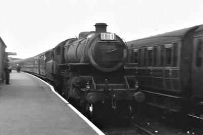 BR - 43147 - BR Ivatt Class 4MT 2-6-0 - built 10/51 by Doncaster Works - withdrawn 12/64 from 34E New England - 32G Melton Constable loco from new to 03/59 - seen here at Melton Constable.