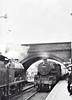 BR - 43066 -  BR Ivatt Class 4MT 2-6-0 - built 12/50 by Darlington Works - 01/67 withdrawn from 10A Carnforth - seen here at Saxby Junction on the 4pm Spalding - Nottingham, passing 44414 in the opposite platform, 1958.