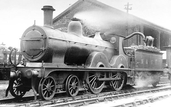 M&GN -  4 - Johnson Class C LNER Class D52 4-4-0 - built 1894 by Sharp Stewart & Co., Works No.4004, as M&GN No.4 - rebuilt 1911, 1923 and 1933 - LNER No.04 not applied - 02/38 withdrawn from Melton Constable - seen here at Peterborough Spital MPD in 1932.