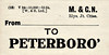 M&GN LUGGAGE/PARCEL LABEL - PETERBOROUGH - print date 12/24 - an LNER label, presumably referring to North rather than East.