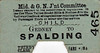 M&GN TICKET - GEDNEY - Third Class Child Single to Spalding - fare 8 1/2d - this is, I think, a pre-LNER style ticket. Note that it has been punched but not dated.