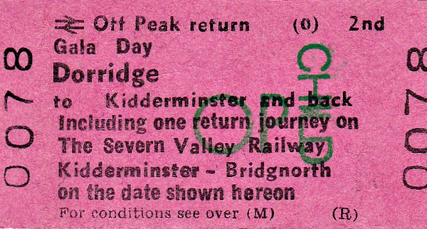 BR EDMONDSON TICKET - DORRIDGE GALA DAY - I have been able to find out absolutely nothing about this event, not even the date it was held.