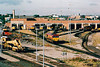 THORNABY DIESEL DEPOT - Seen here on 26/08/99, with 66133 coming off depot and examples of class 37,56 and 60 on view.