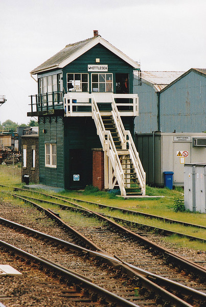 WHITTLESEA - The signalbox at Whittlesea always seems to be nicely kept. It has just had a fresh coat of paint on May 12th, 2001 and is looking very trim. At one time, Whittlesea was a major freight centre but I imagine the box is mostly full of white levers now.