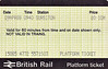 BR PLATFORM TICKET - SURBITON - 10 pence, dated April 9th, 1988. Another souvenir of the trip to the Mid-Hants.