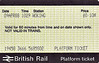 BR PLATFORM TICKET - WOKING - 10 pence, dated April 9th, 1988. Another souvenir of the trip to the Mid-Hants.