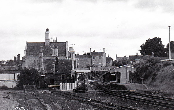 STAMFORD - lying on the line from Peterborough to Manton Junction in Lincolnshire, this must be one of the prettiest stations in the country. I suspect that this shot dates from the early 1970's as the Seaton bay is still in place but the track has been lifted.