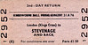 BR EDMONDSON TICKET - LONDON (Kings Cross) to STEVENAGE - Day Return for those attending the Rock Festival at Knebworth House, fare £1.50. Playing were The Rolling Stones, 10cc, Lynyrd Skynyrd, Todd Rundgren's Utopia , Hot Tuna and the Don Harrison Band.