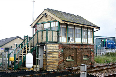 LAKENHEATH - The signalbox, still standing but only just, derelict since the resignalling of 2012 and the installation of full barriers. Seen here on 16/09/17.
