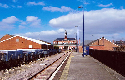 GRIMSBY DOCKS - on the line from Grimsby Town to Cleethorpes, this once important station is now just a single platform with plain track. Evidently served by trains of some importance in the early 1960's, it now only plays host to the Barton-on-Humber - Cleethorpes service and sees about 5000 passengers per year.