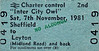 BR EDMONDSON TICKET - 'INTER CITY OWL' - SHEFFIELD to LEYTON (Midland Road) - Sheffield Wednesday played Leyton Orient on this day in a League Division 2 match and lost 3-0 so I should think the return journey was fairly sombre!