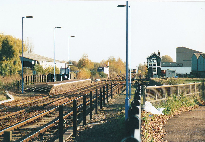 WHITTLESEA - Looking east from Platform 2 in November 2005. Abellio has plans in 2017 to extend both platforms, Platform 2 towards 1 and then build a footbridge between them. This is mainly because the new trains being built will be much too long for these short platforms.