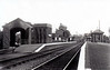WAINFLEET - Lying 5 miles west of Skegness on the line to Grantham and Nottingham, seen here facing east in 1938. The station is still open and has a roughly hourly service on weekdays.