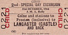 BRITISH RAILWAYS TICKET - COLNE - Child Special Day Excursion Return from Colne and intermediate stations to Preston to Lancaster Castle for the JMA Rally (?) on October 31st, 1964.