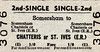 BRITISH RAILWAYS TICKET - SOMERSHAM - Second Class Single to Chatteris or St Ives, fare 1s 8d - dated December 28th, 196?