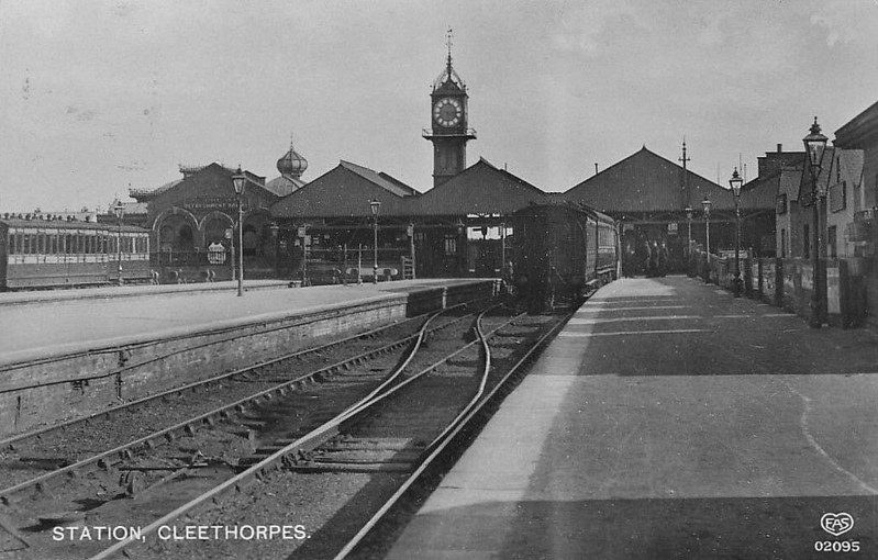 CLEETHORPES - Opened by the Manchester, Sheffield & Lincolnshire Railway in 1863, Cleethorpes was developed by the railway into a seaside resort. The station boasted 6 platforms and a nest of carriage sidings, reflecting how busy it was, particularly on summer weekends. Right up until the 1970's, it boasted two daily return services to Kings Cross. Since then, things have been scaled back considerably, platforms reduced to 3 but still boasting an hourly service to Manchester. Around 250,000 passengers use the station each year.