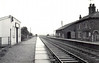EASTVILLE - Now demolished, the station was sited on the Boston - Firsby Junction section of the Grimsby - Peterborough mainline. It opened in 1848 as East Ville and New Leake, it closed to passengers in 1961 and all traffic in 1964. Facilities were fairly basic.