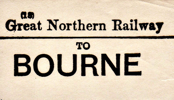 GREAT NORTHERN RAILWAY - BOURNE - Terminus of two GNR branchlines, one from Essendine and one from Sleaford.