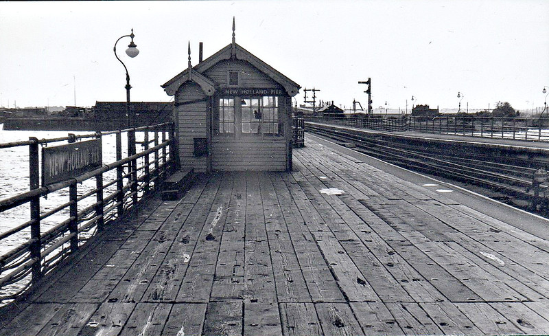 NEW HOLLAND PIER - Situated at the end of 419 metre pier, this was the station for the Humber steamers service to Hull before the Humber Bridge opened in 1981. Opened in 1848, it closed when the bridge opened. It would be difficult to go much further north in Lincolnshire without getting wet feet!